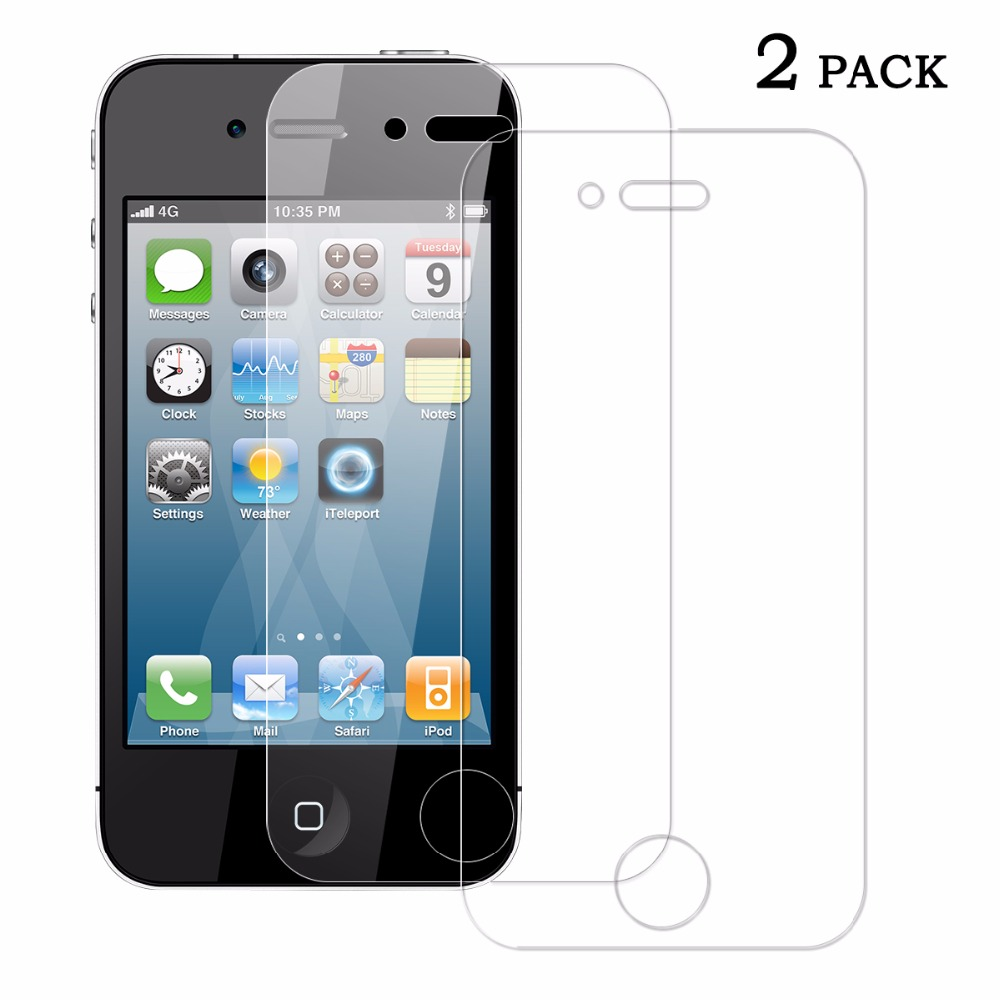 Sundatom 9H Explosion-proof Anti-scratch 2.5D Tempered Glass Screen Protector Film Apple iPhone 4 4S - SUNDATOM official store