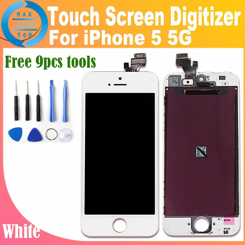 For iphone 5 Touch Screen LCD Assembly Screen Replacement Display Digitizer for iphone 5 5G LCD Digitizer White Color