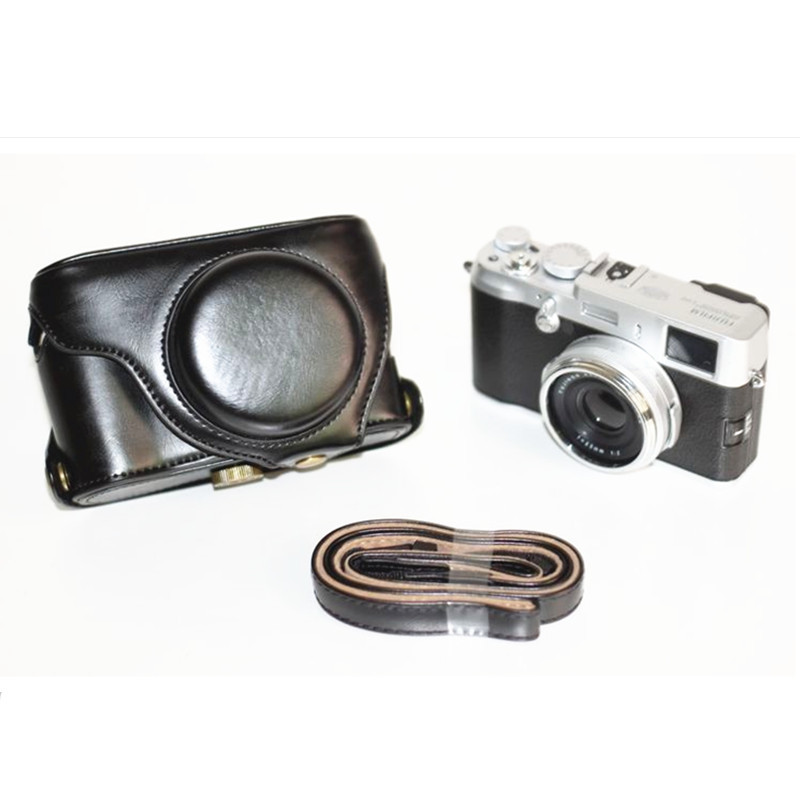 Higher quality Leather camera Case bag LC-X100S LC-X100 Finepix X100S X100 X100T Fujifilm Black - Digital_online007 store