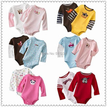 3M-24M 1pcs Long Sleeve Winggle-in Cotton Infant kids child Rompers baby children Romper baby jumpsuit(China (Mainland))