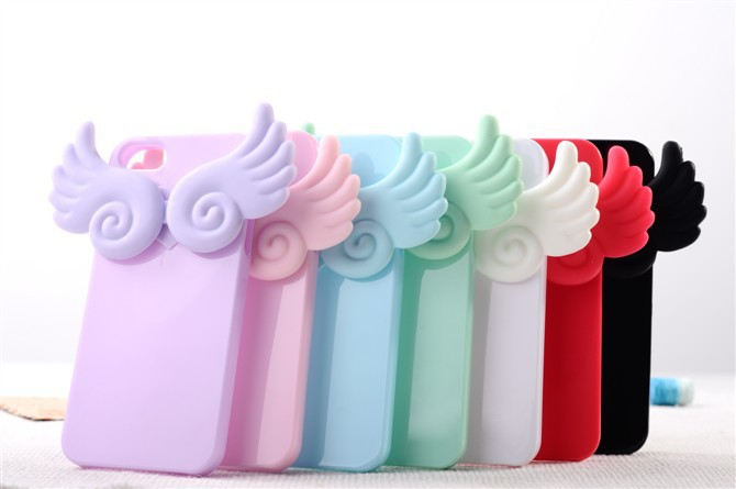 New Cute Angel Wings Soft Back Case Cover Apple iPhone 5 5G 5th 5S.(Without retailing packing) - ShenZhen HongTai Electronics CO.,LTD store