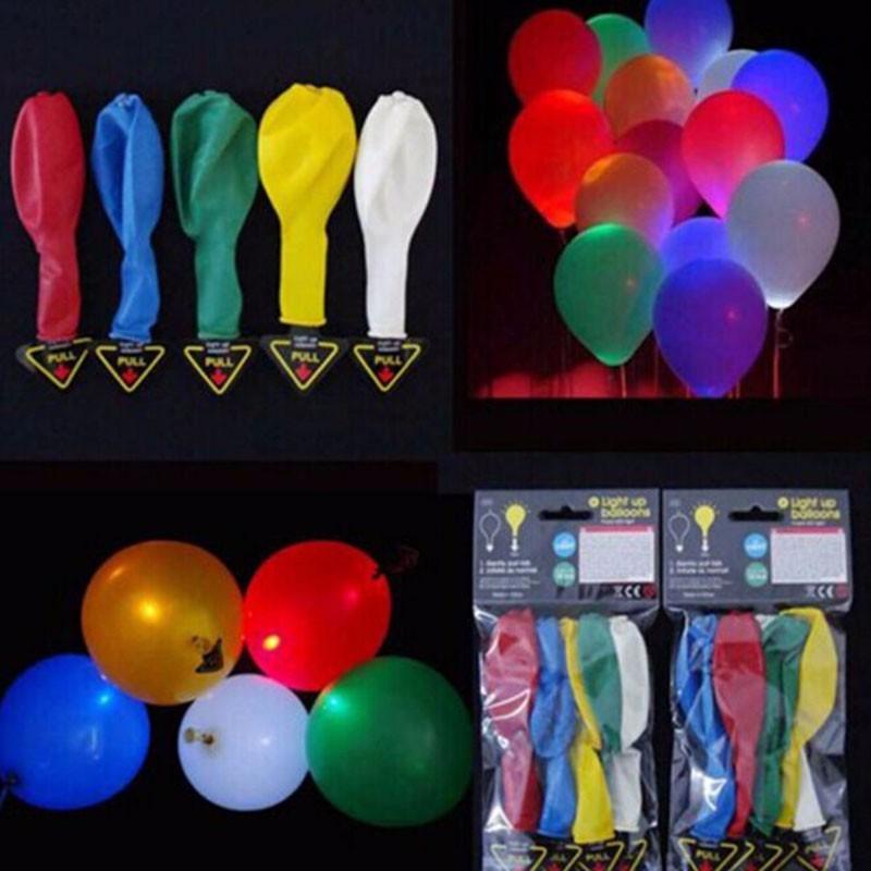 10pcs/lot 12inch LED Ballon.Light UP LED baloon Party supplies balloons baby birthday decoration