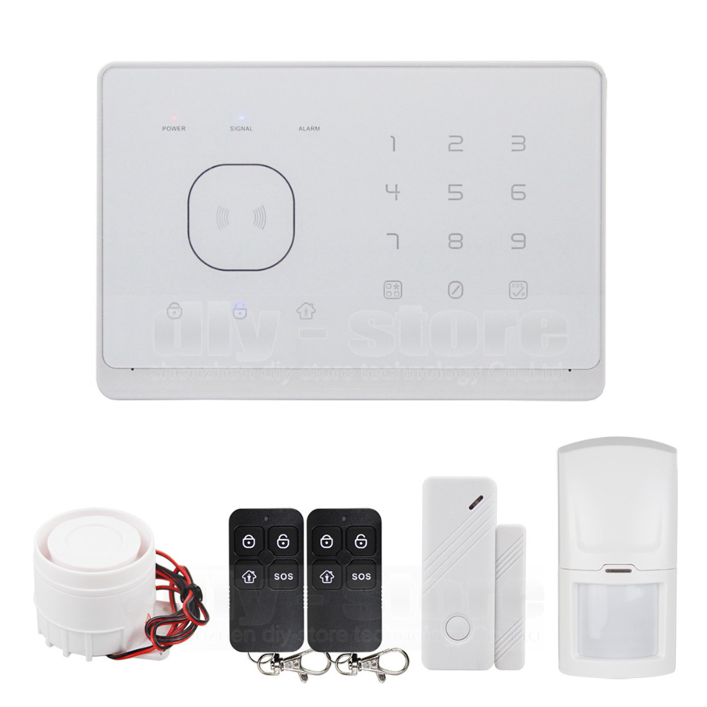 Touch screen and short message / RFID application control GSM radio frequency alarm system! Best intelligent home alarm system(China (Mainland))