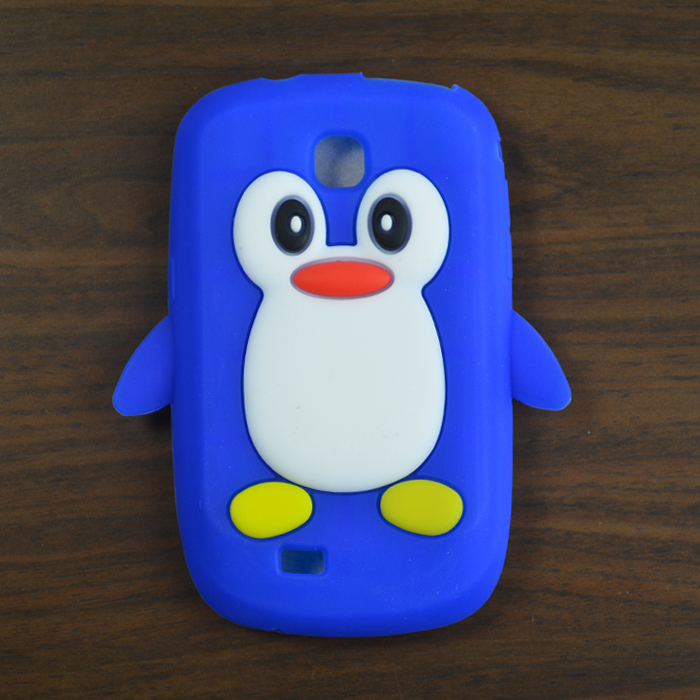 For Samsung Galaxy Mini S5570 silicone, Colorful 3D Penguin Silicone Case Cover for Samsung Galaxy Mini S5570(China (Mainland))