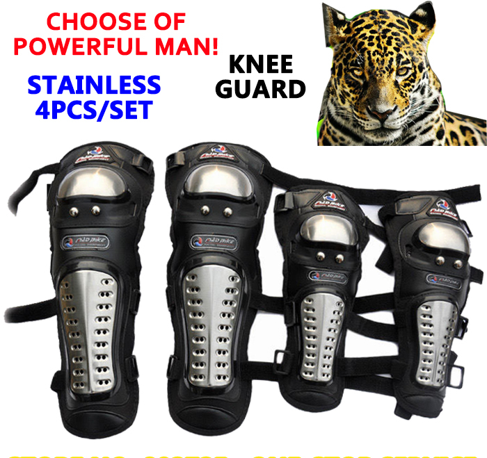 Здесь можно купить  100% Genuine Stainless Steel CE 4pcs/Lot Motorcycle Knee&Elbow Combination Protector Super Protective Knee Guard Free Shipping  Автомобили и Мотоциклы