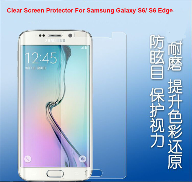 20x CLEAR HD Front Screen Protector Film For Samsung Galaxy S6 G9200 S6 Edge Guard Anti Scratch(China (Mainland))