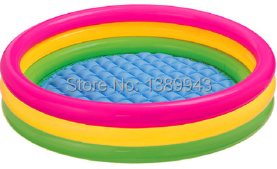Free Express Big Size INTEX Inflatable Pool Colorful Kids Tub in Garden Children Inflatable Swimming Pool(China (Mainland))