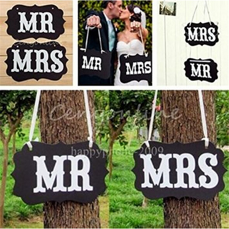 Photo Booth Garland Banner MR MRS Photo Props Chair Signs Photo Booth Wedding Party Decoration event party supplies wedding(China (Mainland))