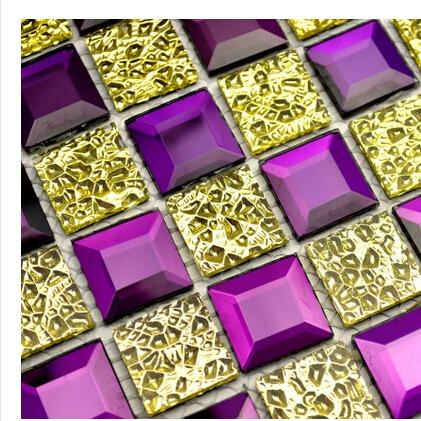 online kaufen gro handel lila glas fliesen aus china lila. Black Bedroom Furniture Sets. Home Design Ideas