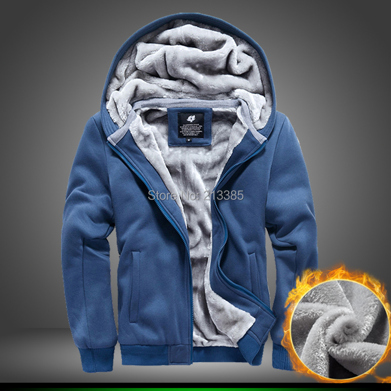 2015 Newest Mens winter thick fleece hoodies men fashion casual hoody jacket top designer plus size  -  Man Show store