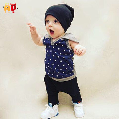 AD Stylish Baby Boys Hooded Fleece Vest for Spring Autumn Kids Tops Outwear Children's Clothing and Accessories(China (Mainland))