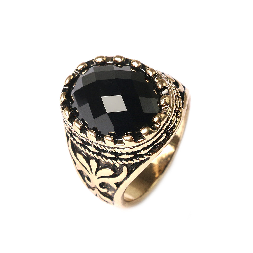 big oval mens ring for jewelry vintage
