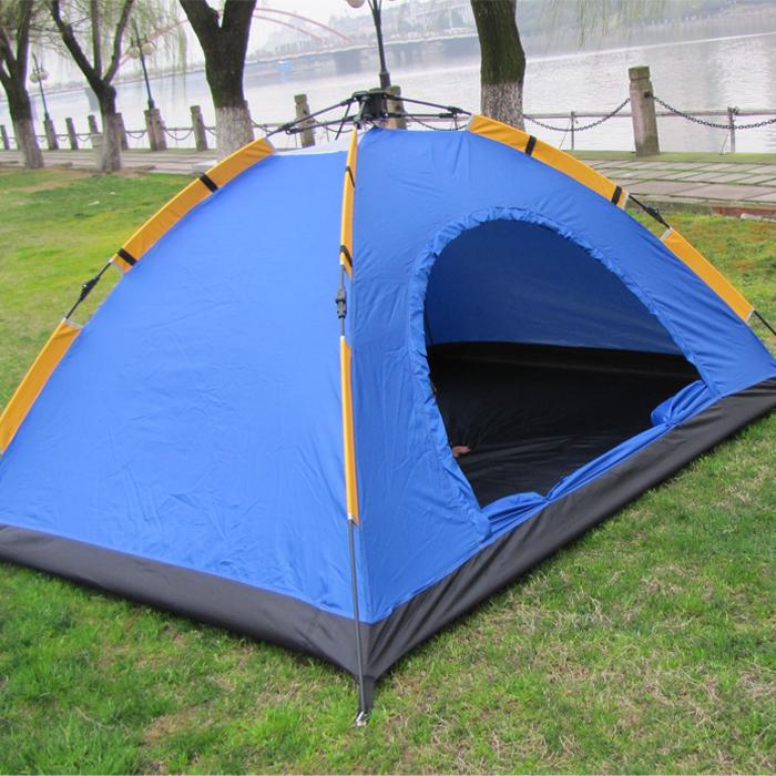 2 automatic tent double open the door outdoor tent skylarks belt breathable waterproof()