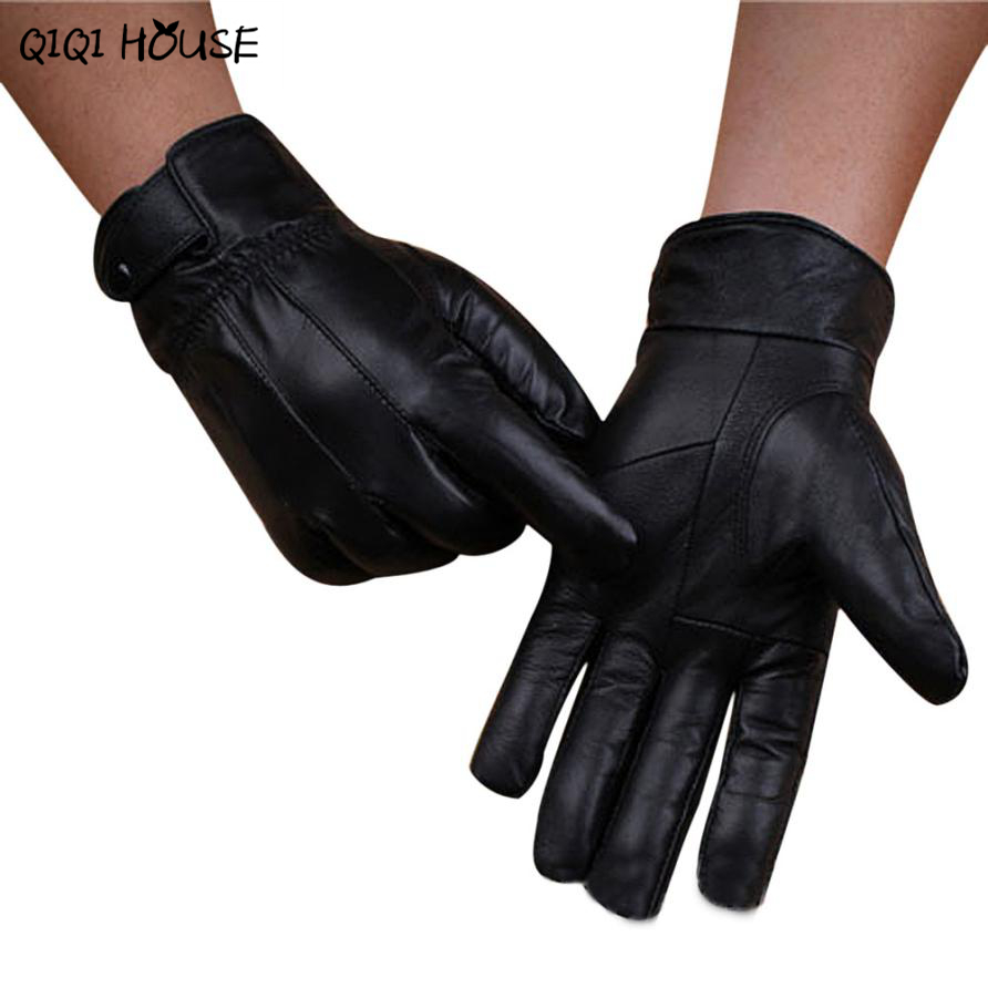 Driving gloves for arthritic hands - Leather Gloves High Quality Men Super Warm Hand Driving Gloves Outwear Workout Gloves Luvas Motociclista3b921
