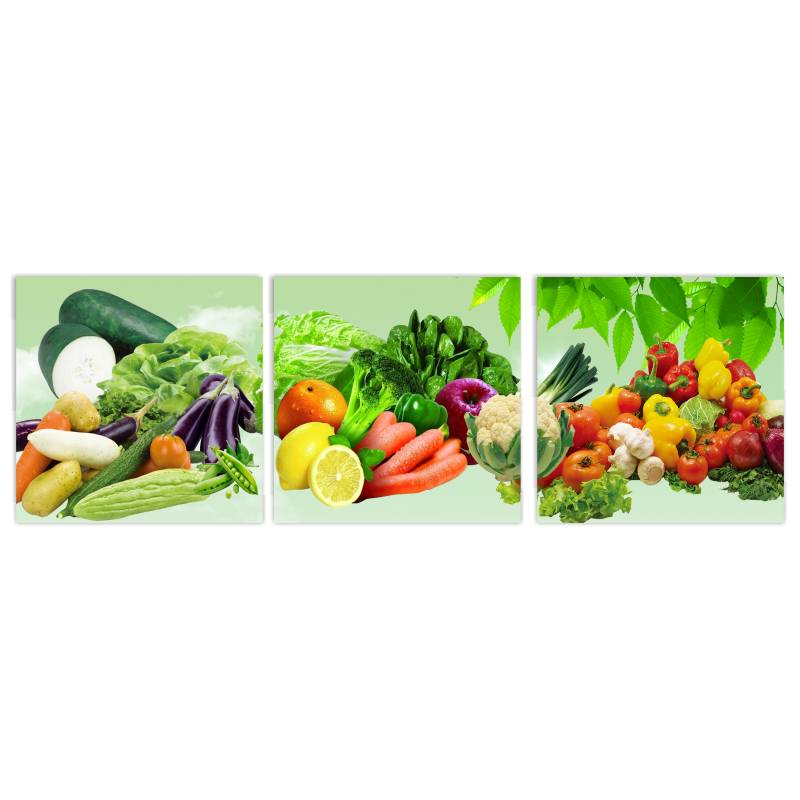 3 panels canvas wall art wall pictures modern wall - Panel pared cocina ...