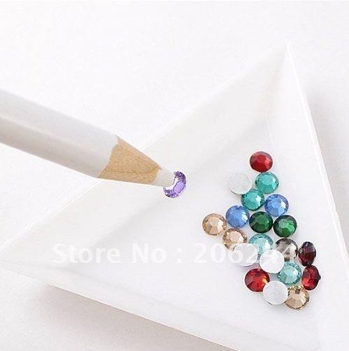 50 x Nail Art Rhinestones Gems Picking Tools Pencil Dotting Pen,Free Shipping