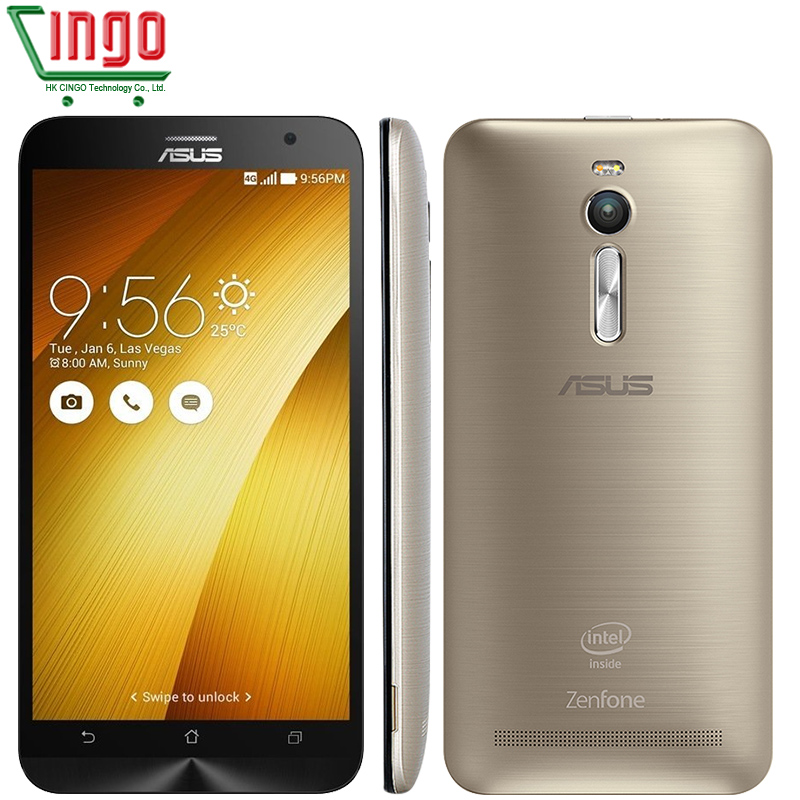 """Original ASUS Zenfone 2 ZE551ML 4G Cell Phones Z3560 1.8GHz 4GB RAM 32GB 5.5"""" 1920x1080 Android 5.0 Wife13MP Camera ASUS 2(China (Mainland))"""