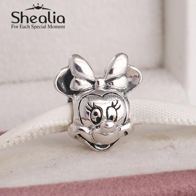 Весна минни подвески-талисманы 925 чистое серебро ювелирные изделия для женщины подходит своими руками подвески braacelet SH0648