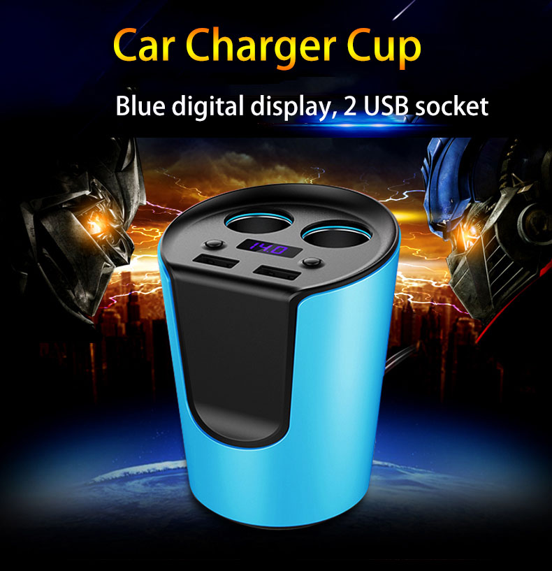Intelligent car charger according to different mobile phone to adjust the charge current digital monitoring battery voltage(China (Mainland))