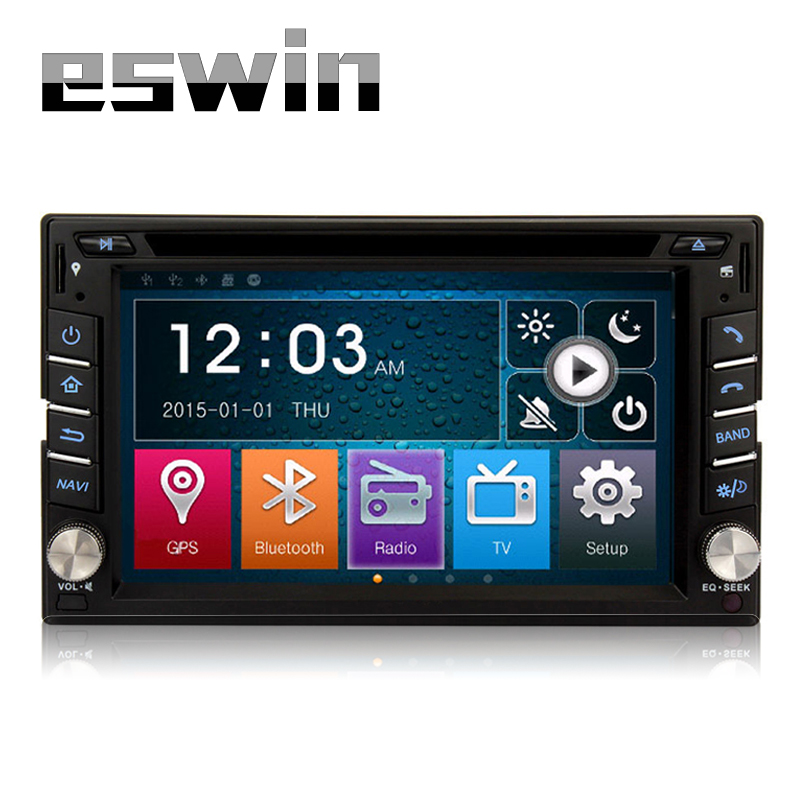 2din New universal Car Radio Double 2din Car DVD Player GPS Navigation In dash Car PC Stereo video built in Bluetooth Free Map(China (Mainland))