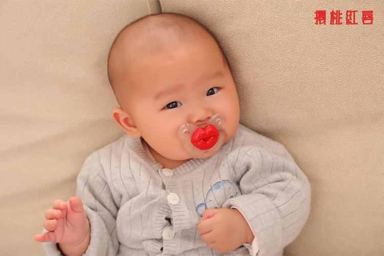 [new] promotion second generation Silicone Baby Pacifier funny lip lip rabbit figure Mu class buckteeth(China (Mainland))