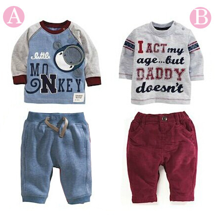 Retail 2015 spring boys and girls brand clothing set baby brand suit hoodie + pant best NEW years present for children(China (Mainland))