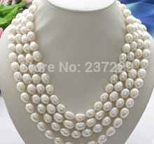 """Buy HOT## Wholesale price FREE SHIPPING ^^Long 80"""" 13mm white rice freshwater pearl cultured necklace for $25.47 in AliExpress store"""