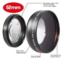 Neewer 52MM 0.45X Wide Angle Lens + Macro + Lens Bag for Nikon D5000 D5100 D3100 D7000 D7200 D7100 D3200 D80 D90  free shipping(China (Mainland))