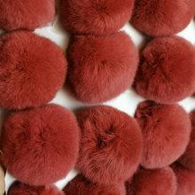 6 cm pompon coelho macio chaveiro pom pom lâmpada mulher saco porte cleff trinket natural rex coelho cabelo bola de lã real pele chaveiros(China)