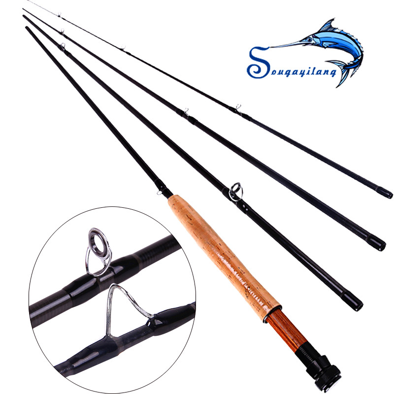 Sougayilang Hot Sale 2016 Winter Fly Fishing Rod Carbon Hard 8.86 Ft 5/6# 4 Segments Sections 2.7M For Carp Fishing Light<br><br>Aliexpress