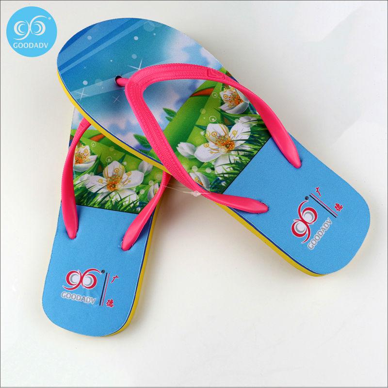 2016 Promotional Gifts Custom Eva Logo Flip Flops Fashion