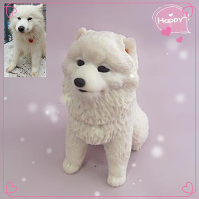 diy custom samoyed dog figurine polymer clay pet doll 8cm car decoration free shipping in. Black Bedroom Furniture Sets. Home Design Ideas