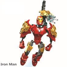 Série Super Herói Homem De Ferro Tony Stark Armadura Maravilha Filme DC Modelo de Blocos de Construção Tijolos Conjuntos de Brinquedos Infantis Compatível(China)