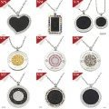 MIX Order Free fast  Shipping DHL fashion health  Quantum Pendant basalt Iava scalar energy with authenticity card 5pcs/lot