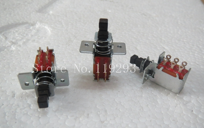 [BELLA]Japan ALPS reset switch 6 foot self-locking switch ( not lockable ) empty legs with fixed screw terminal--50pcs/lot<br><br>Aliexpress