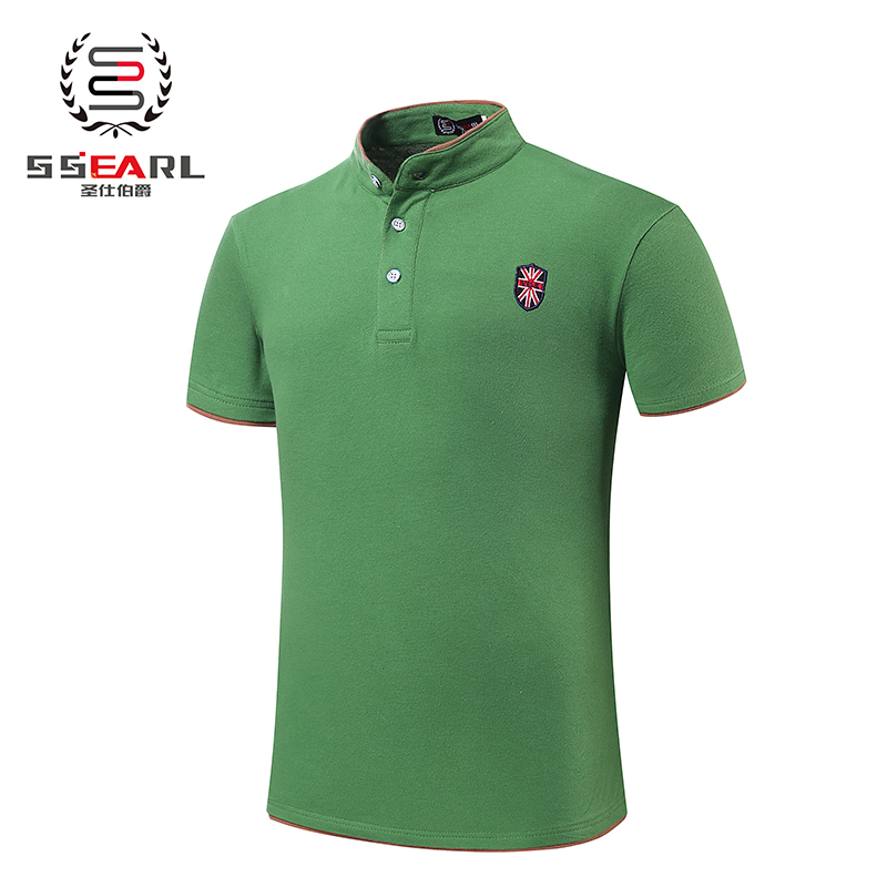 2015 summer clothes collar polo men clothing solid mens for Business casual polo shirt