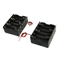 image for Plastic On/Off Switch 4 X 1.5V AA Battery Case Holder W Cap Black