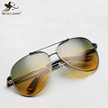 2015 Top quality Pilot sunglasses Men s night vision driving polarized sunglasses HD UV400 outdoor multifunction