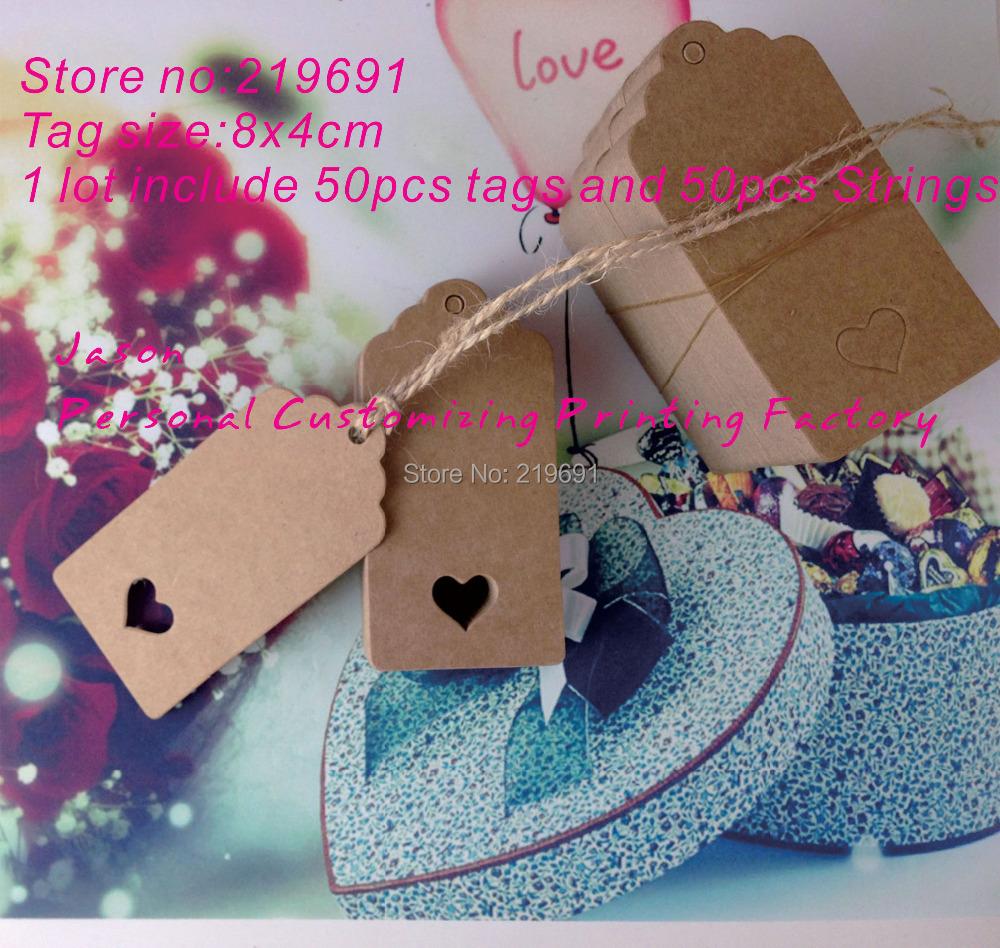 Wedding Favor Hanging Gift Tags : Blank price Hang tag DIY kraft paper tag Favor Gift Tags Wedding ...