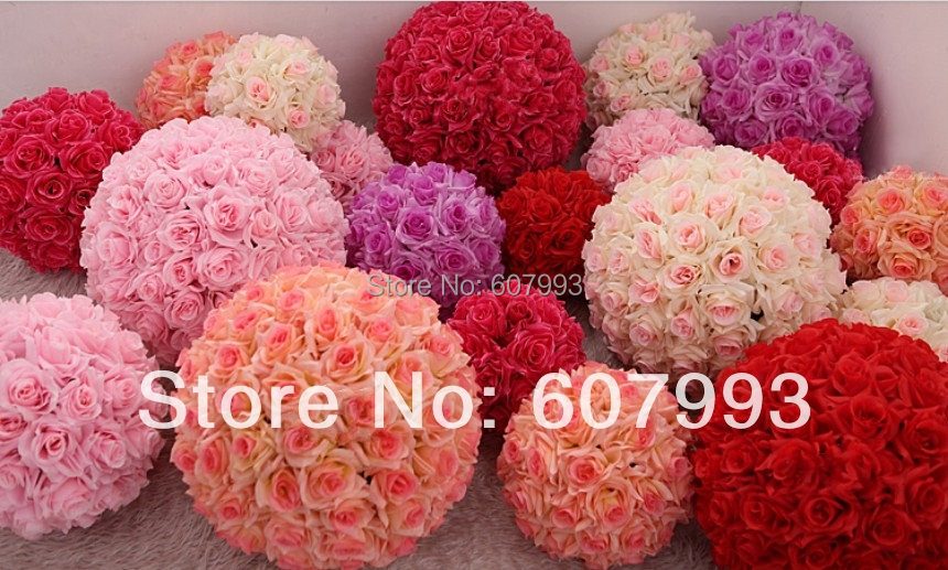 30cm diameter high compacted wedding rose ball artificial for Acheter decoration noel