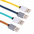 High Quality 1M Leather Sync Data Charging Cable Cord Micro USB Charging Charger Cable for Android