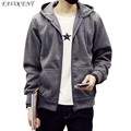 FAVOCENT new fashion 2017 men s loose hooded hoodies casual sportswear black and white blue color