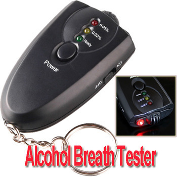 Free shipping factory supply mini alcohol testerAccurate Breath Alcohol Tester Breathalyzer with Flashlight led display(China (Mainland))