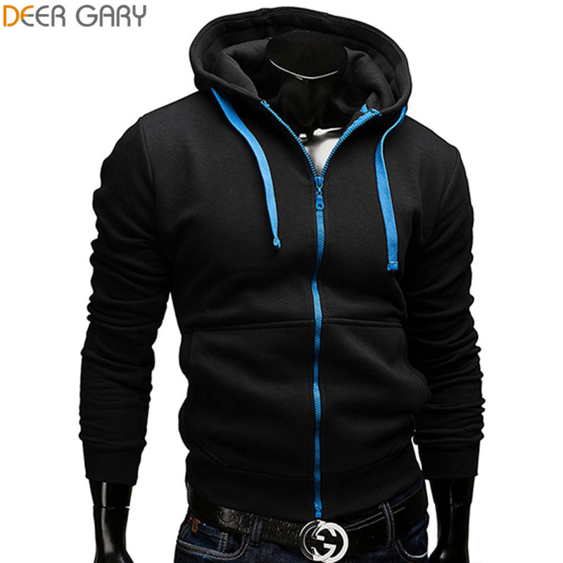 Fashion Brand Hoodies Men Casual Sportswear Man Hoody Zipper Long-sleeved Sweatshirt Men Five Colors Slim Fit Men Hoodie(China (Mainland))