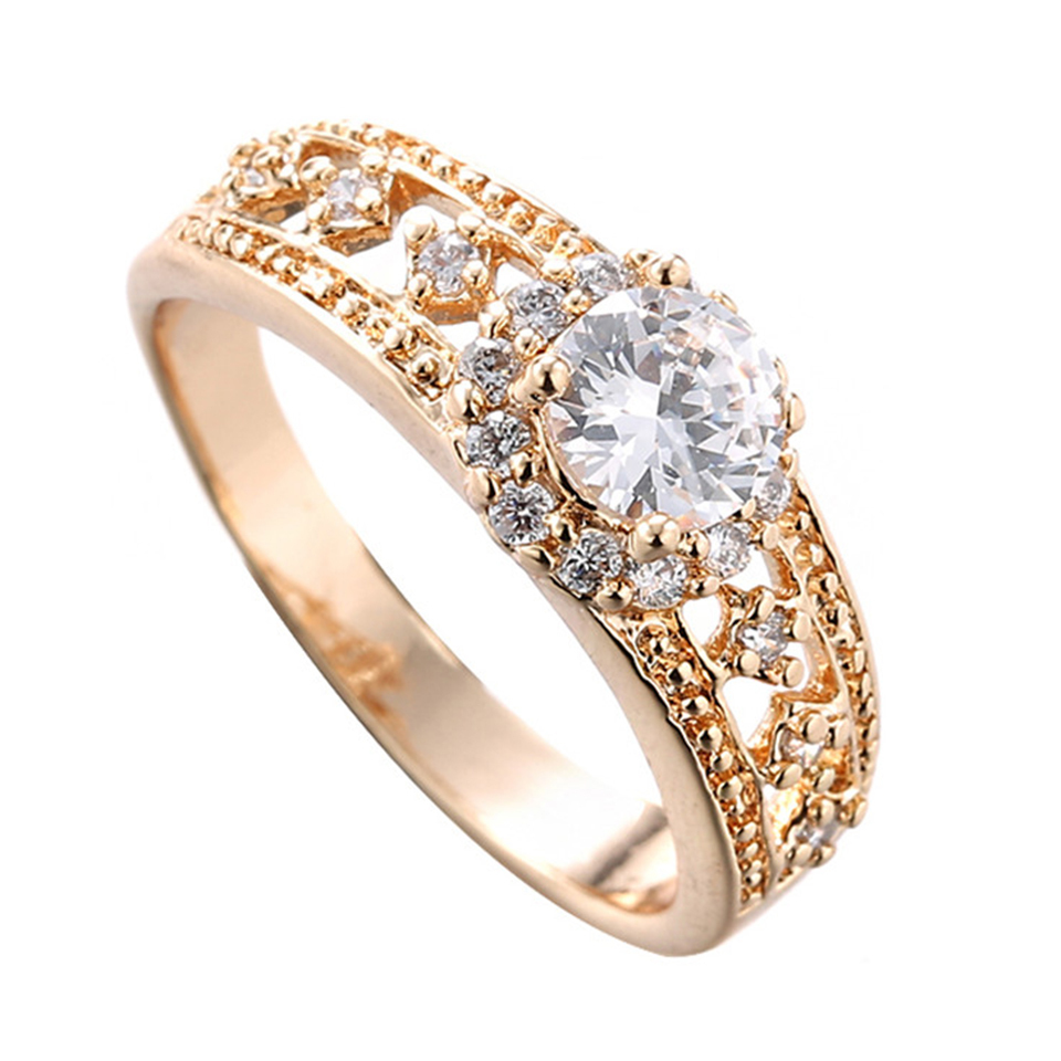Anillos mujer wedding rings engagement anel feminino for Gold ring models with letters