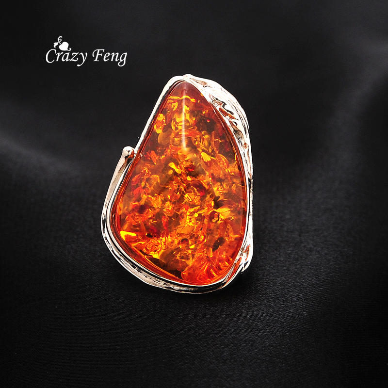 Aliexpresscom buy 2016 new design silver plated amber for Amber stone wedding ring