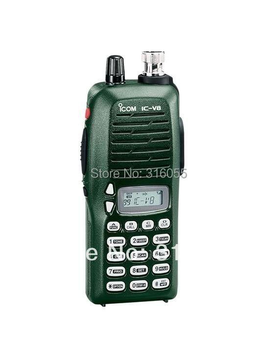 2pcs/lot IC-V8 VHF136-174MHz walkie talkie IC-V8 two way radio long range walkie talkie(China (Mainland))
