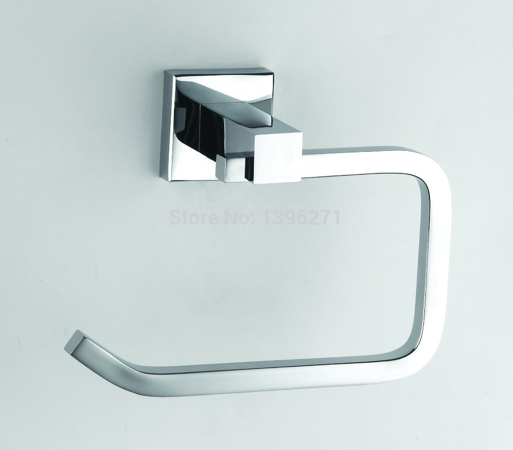 Free shipping bathroom accessories solid brass chrome for Bathroom accessories toilet roll holder
