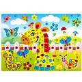 Baby Kid DIY Diamond Sticker Handmade Crysta Paste Painting Mosaic Puzzle Toys Educational Puzzle Gift FCI