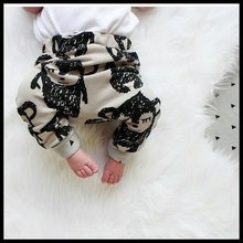 Baby Boys Pants Monkey Printed Baby Harem Pants For Boy Kids Children Trousers Cotton Clothes(China (Mainland))